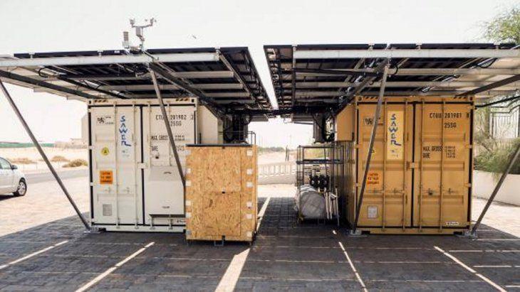 El primer prototipo del llamado Solar Air Water Energy Resource (Sawer