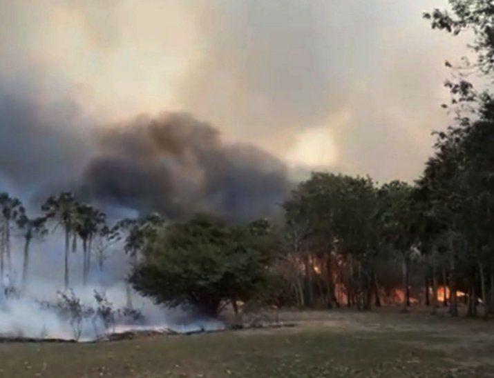 Panorama. Parte de la estación biológica ardió en llamas.