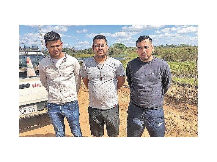 Lejos.  Detenidos en una lejana localidad de Ñeembucú.