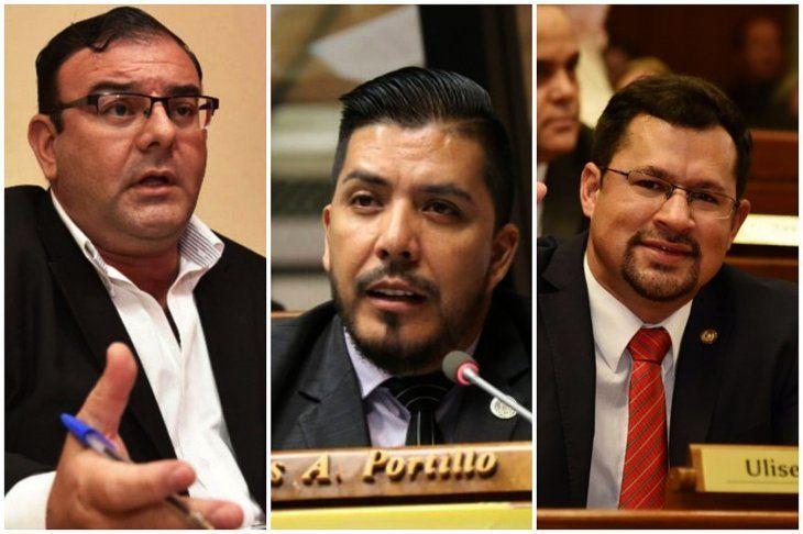 Los diputados Carlos Portillo