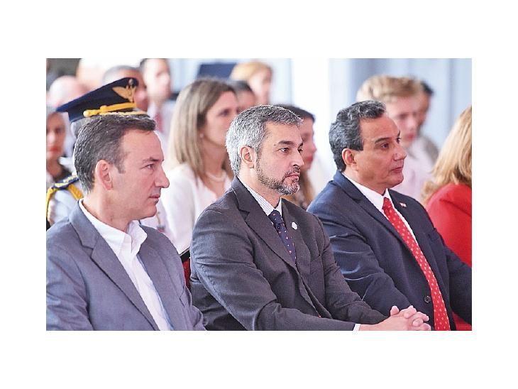 Visita. Marito participó de la inauguración de industria.
