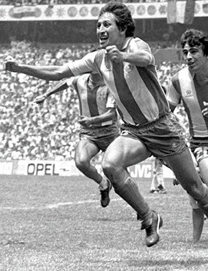 Inolvidable. Romerito festeja su gol en el Mundial de México 1986.