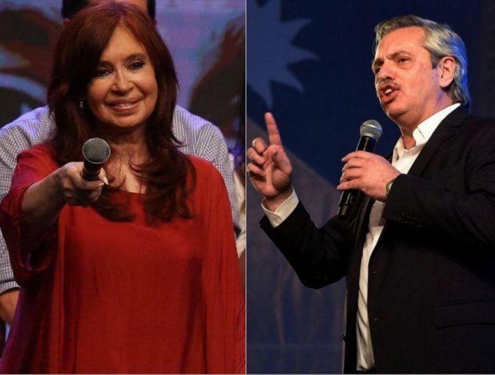 Retorna. Cristina Fernández Kirchner. - El elegido. Alberto Ángel Fernández.