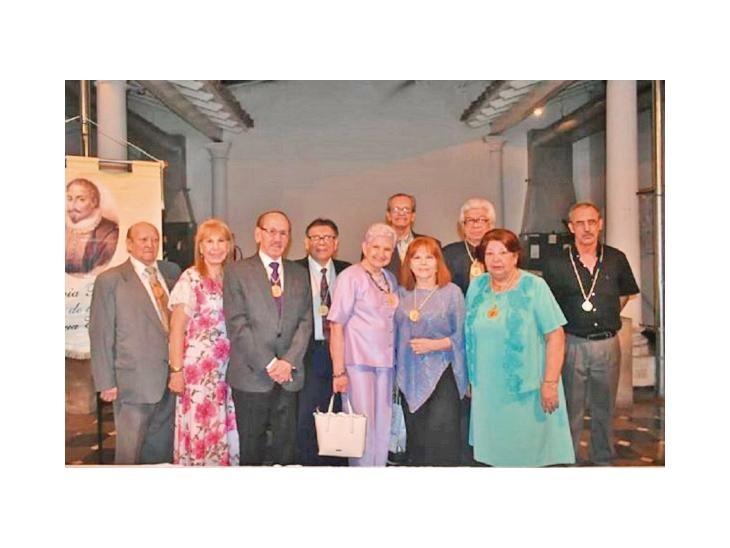 Guarania. La delegación nacional durante  su viaje de representación a Sevilla