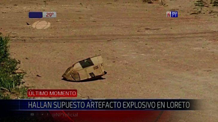 La Fiscalía recolecta imágenes de circuito cerrado para identificar a los que dejaron el artefacto.