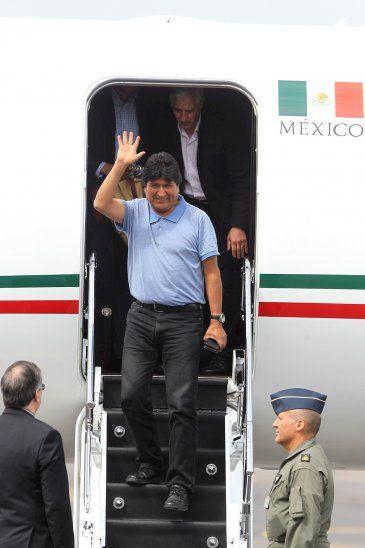 Morales llegó hasta México luego de haber hecho escala en Paraguay.