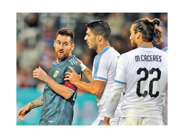 Grandes figuras. Lionel Messi y Luis Suárez hicieron de las suyas en el amistoso.