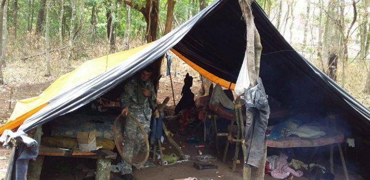 En el lugar se encontró un campamento.