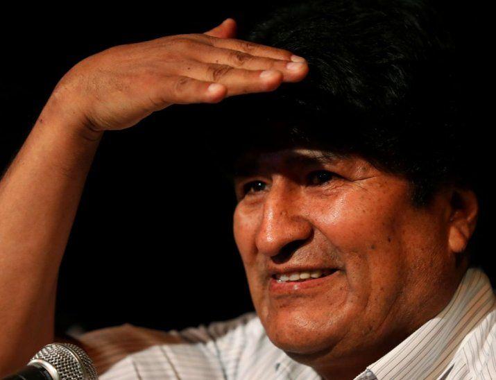 Mediático. Morales ofreció el primer encuentro con la prensa  desde que arribó a Argentina.