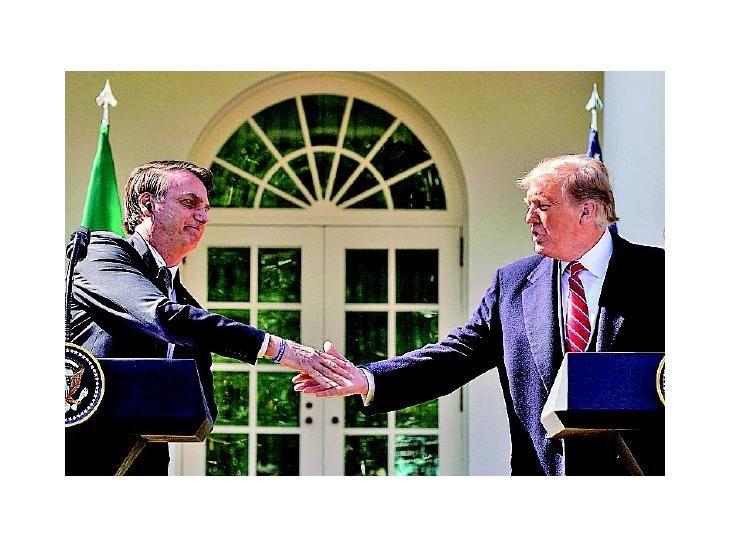 Apoyo. Bolsonaro y Trump ya estrecharon lazos en el 2019.