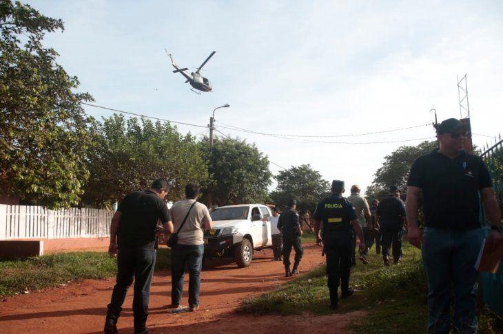Un gran despliegue policial se realiza en Pedro Juan Caballero en busca de reclusos del PCC.