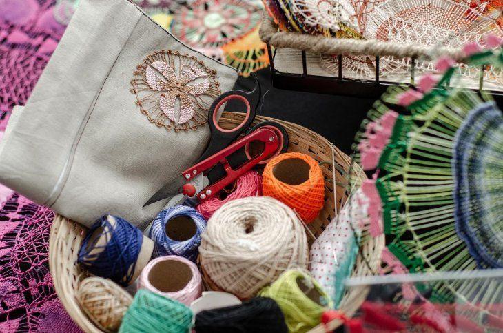 <p>Algunas de las artesanías paraguayas.</p>