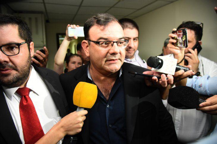 Suspendida. El diputado colorado Tomás Rivas de nuevo logró parar la audiencia preliminar ante el juez Raúl Florentín.