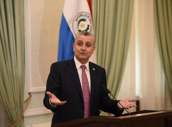 Juan Ernesto Villamayor en conferencia de prensa este martes.