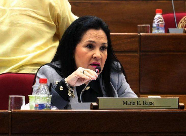 Senadores presentaron este lunes el proyecto de pérdida de investidura de María Eugenia Bajac.