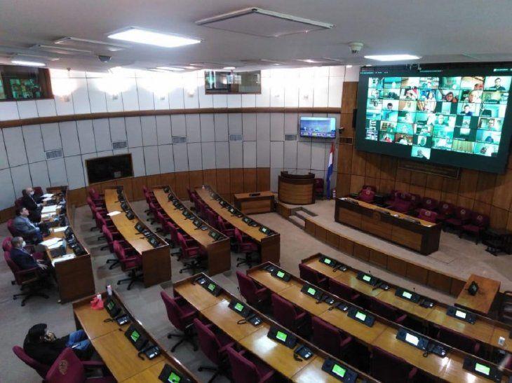 El Senado sesionó de forma virtual este martes.