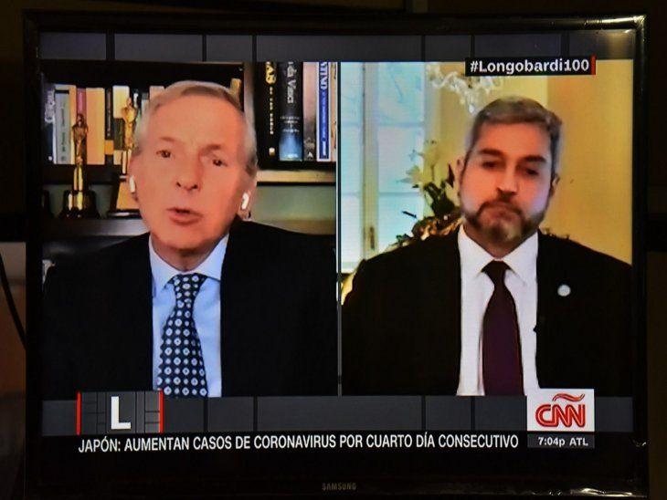 Entrevista. La cadena estadounidense CNN habló ayer con el presidente Abdo Benítez.