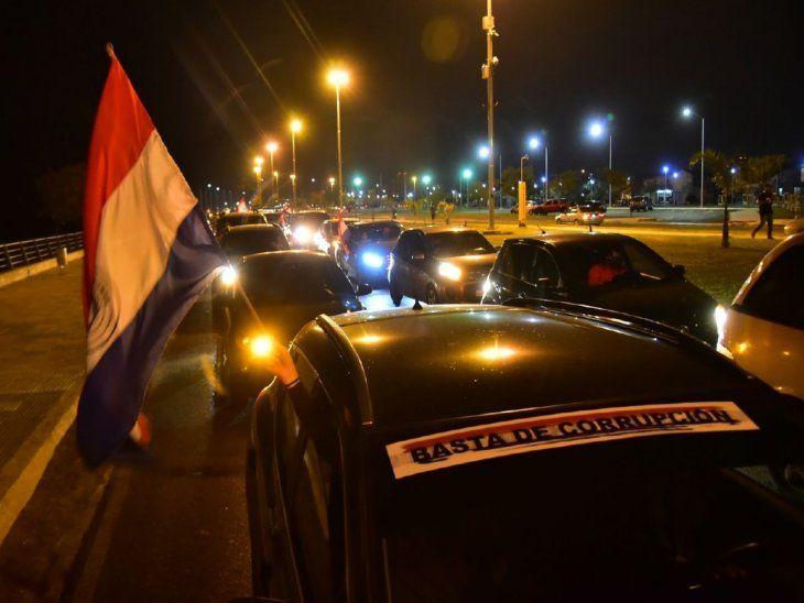 Manifestación. La caravana exigió que los hechos de corrupción sean castigados.