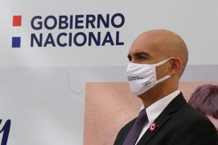 El ministro Julio Mazzoleni expresó sus condolencias a los familiares del nuevo fallecido por Covid-19.