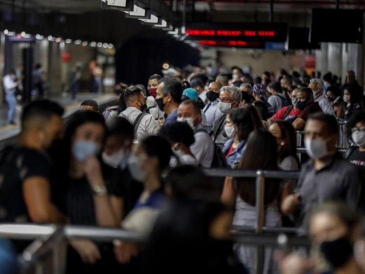 Metro. La reapertura en Brasil llegó en pleno aumento de casos