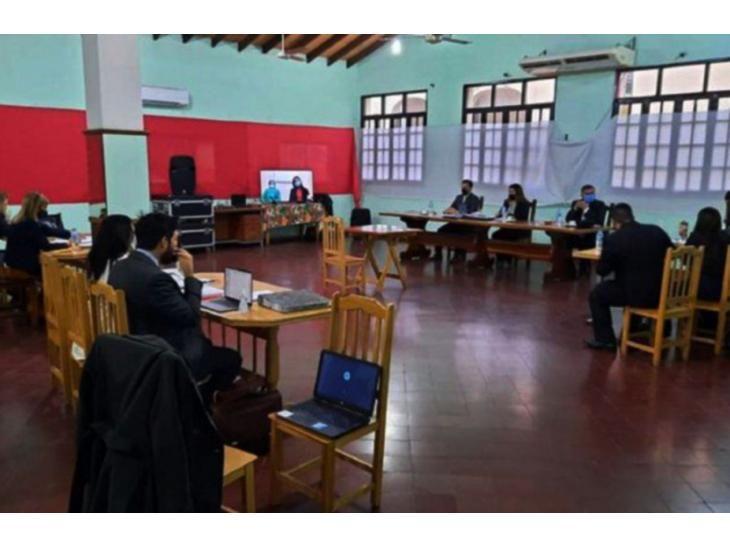 Judiciales. Instante del juicio oral  a Alcides Oviedo Brítez