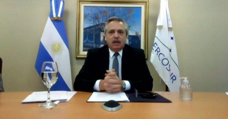 Alberto Fernández habló por primera vez ante el Mercosur.