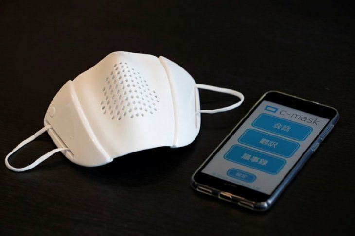 Cubrebocas inteligente que te traduce a 8 idiomas y amplifica la voz