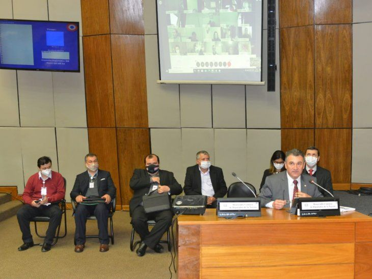 El titular de la ANDE, Luis Villordo, fue interpelado por la Cámara de Diputados.
