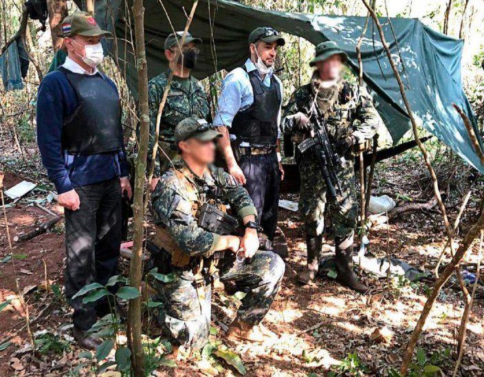 El presidente de la República, Mario Abdo Benítez, fue hasta el lugar donde se encontró el campamento central del Ejército del Pueblo Paraguayo (EPP).