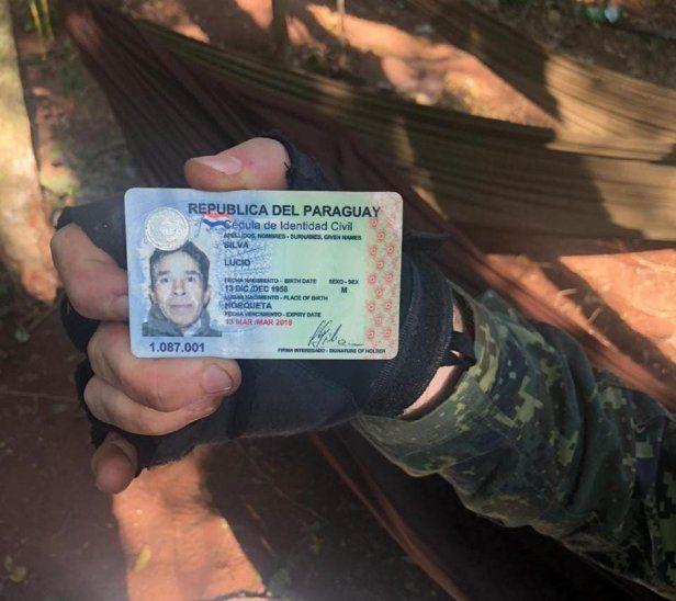 En el campamento fue encontrado la cédula de uno de los miembros del EPP, identificado como Lucio Silva.