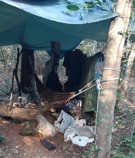 Varias de las pertenencias de los miembros del Ejército del Pueblo Paraguayo (EPP) fueron encontrados en el lugar.<br>