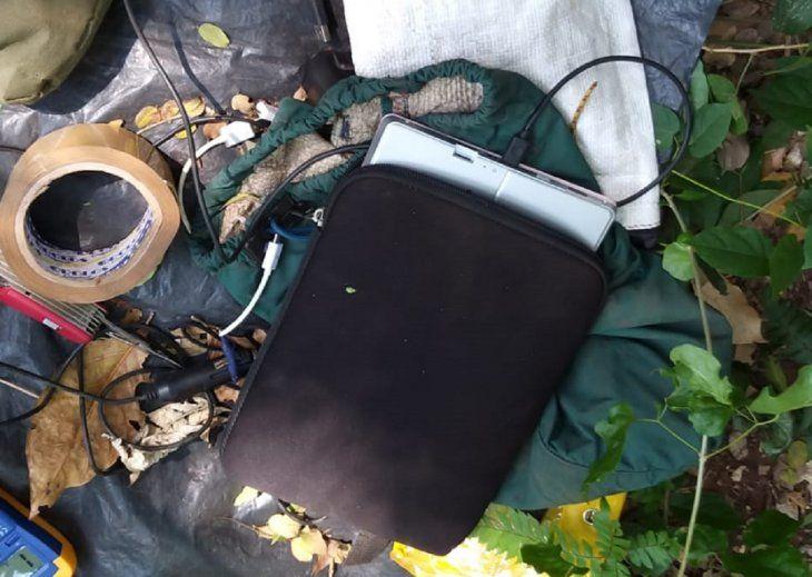Varios aparatos electrónicos fueron encontrados en el campamento del EPP.