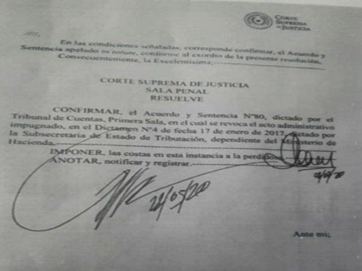 Sistema. Lista de las actuaciones realizadas con el expediente de la acción de inconstitucionalidad contra la resolución que pretende cobrar IVA a la Caja.