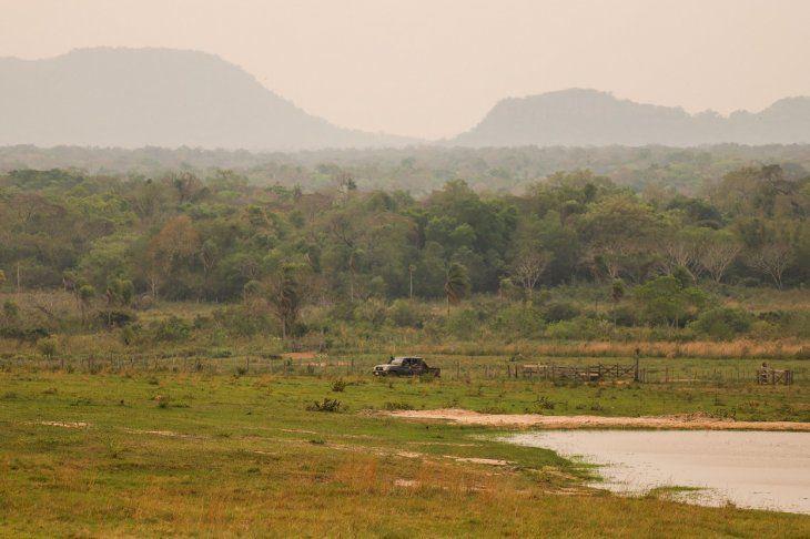 Extensas zonas boscosas rodean al lugar donde se produjo el secuestro de Öscar Denis y Adelio.