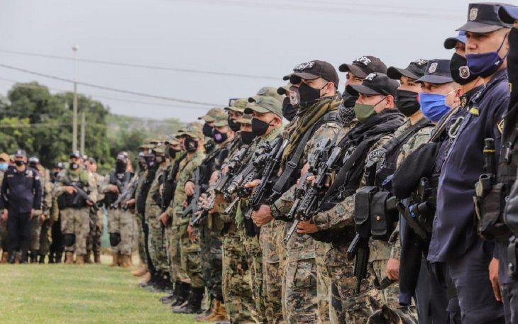 Unos 350 efectivos de la Policía Nacional y 434 de las Fuerzas Armadas  fueron desplegados en el Norte del país.