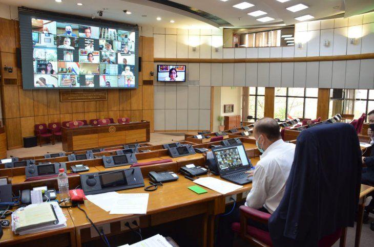 La Cámara de Senadores en sesión. Imagen de referencia.