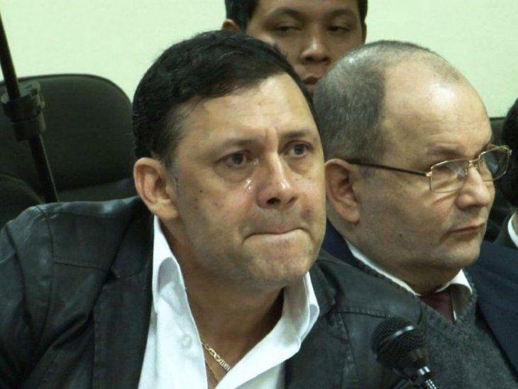 Condena. Víctor Alcides Bogado junto a su abogado Óscar Germán Latorre