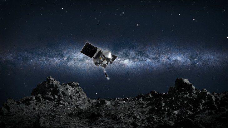 Sonda Osiris-Rex está perdiendo sus muestras en el espacio