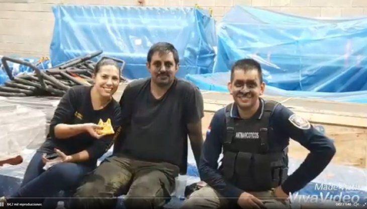 La Policía Nacional difundió un video en homenaje a los agentes que realizaron tareas en Villeta.
