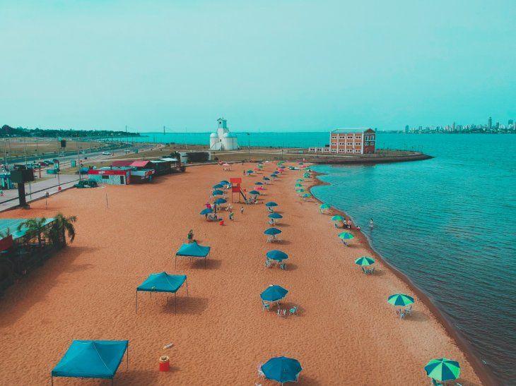 Así fueron establecidas las burbujas sociales en la playa San José en Encarnación (Itapúa).
