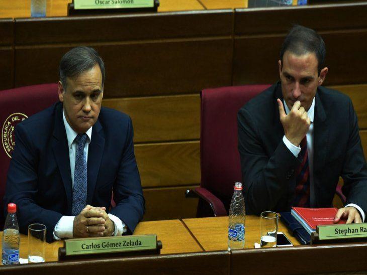 Acuerdo. Varias bancadas rechazarán el veto. Aquí Carlos Gómez Zelada    y Rasmussen.