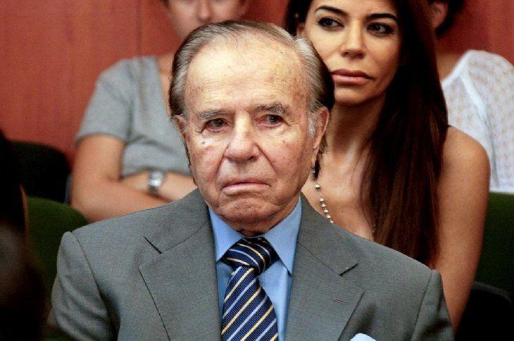 El ex presidente argentino Carlos Menem.