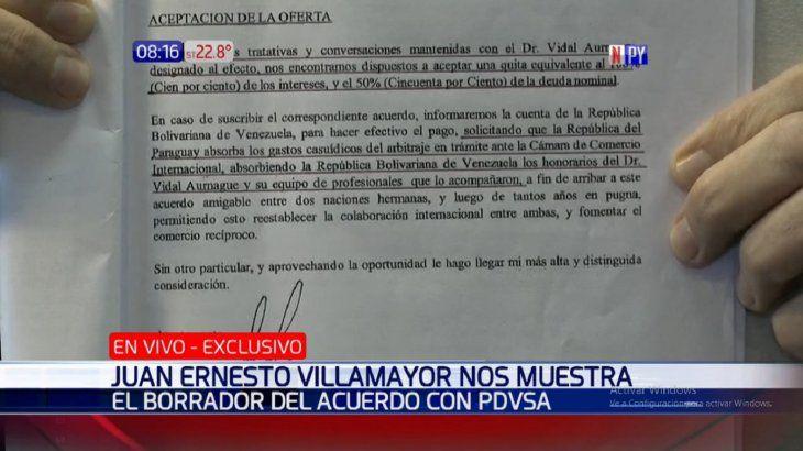 El documento fue presentado por el jefe del Gabinete Juan Ernesto Villamayor.