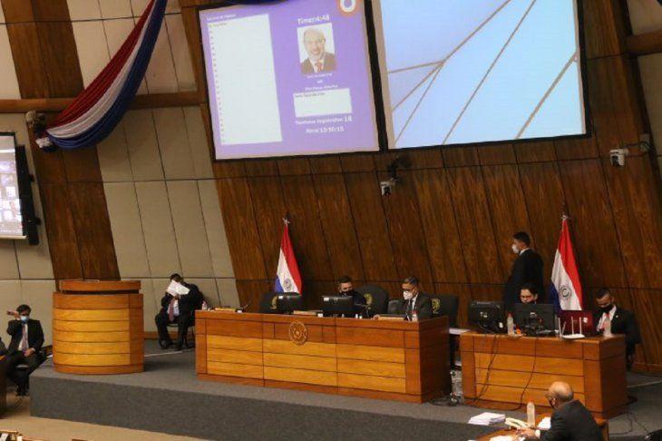 Sesión extraordinaria de la Cámara de Diputados.