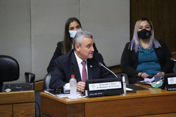 Juan Ernesto Villamayor respondió 15 preguntas durante su interpelación en Diputados.