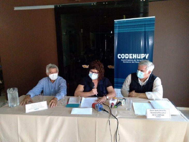 La conferencia de prensa de Codehupy se realizó este viernes.