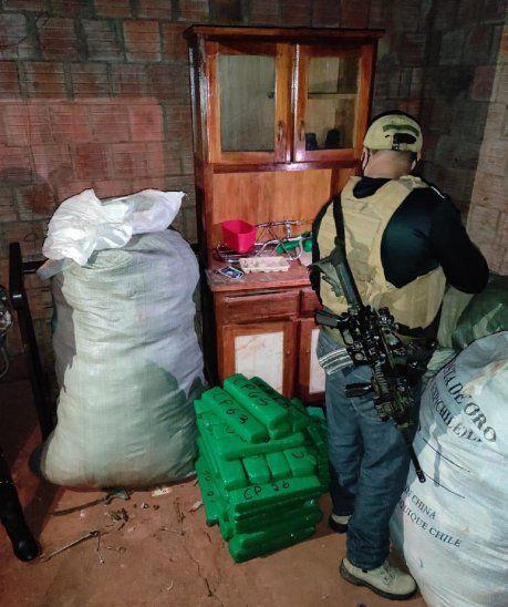 El procedimiento se realizó en una vivienda ubicada en la Colonia Cerro Corá.