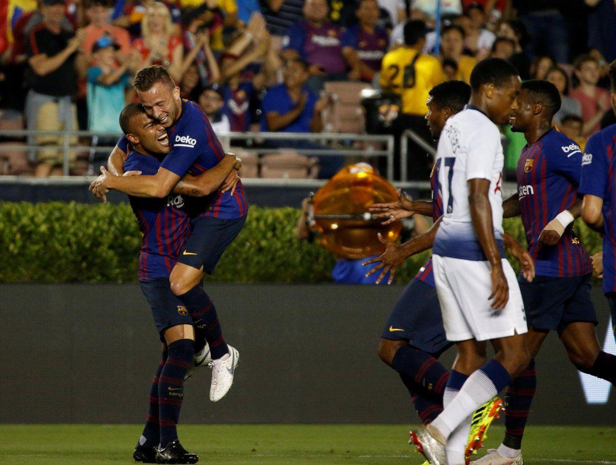 El Barcelona venció por penales al Tottenham. Foto: EFE