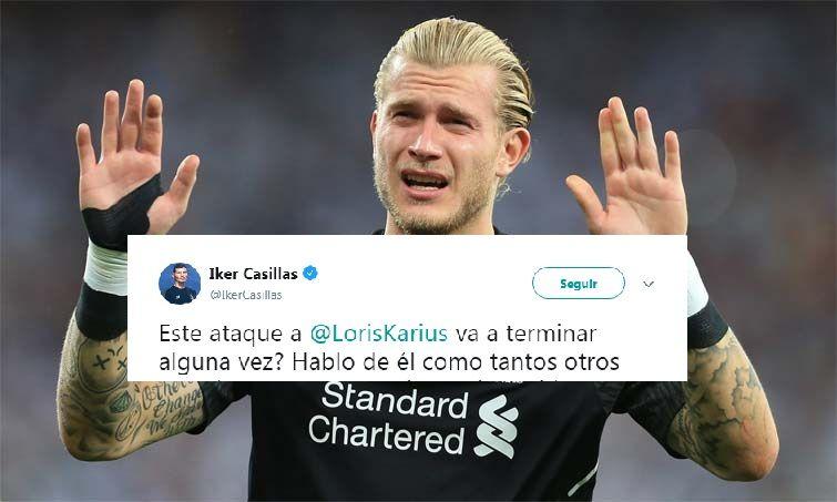 Casillas defiende a Karius.