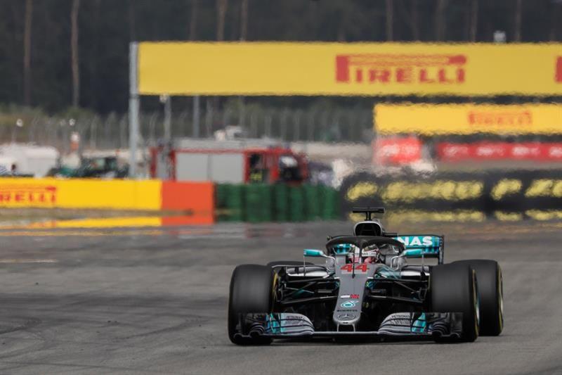 Hamilton aprovechó el accidente de Vettel para ganar en Alemania. Foto: EFE